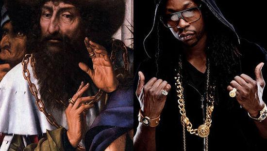 15位嘻哈名人和古画的大撞脸 - 第7张  | 嘻哈中国